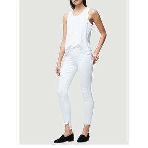 Frame • Le Skinny de Jeanne Raw Stagger in Blanc